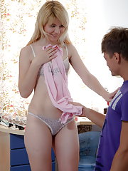 Sweet little teen hottie gets nailed hard
