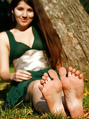 Beautiful teen girls, their beautiful feet, all exposed! Teens Foot Fetish takes next door type Euroteens and lets them tease your brains out with the