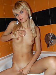 Watch sexy russian nude teen Kira taking bath